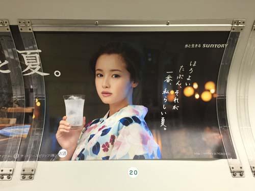 gooブログ 7月30日(土)のつぶやき:沢尻エリカ ほろよい(電車マド上広告)