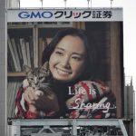 gooブログ  11月26日(土)のつぶやき:新垣結衣 GMOクリック証券 Life is Sharing.(新宿駅前ビルボード)