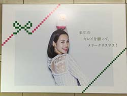 【1年前の広告】12月13日(日)のつぶやき:水原希子 パナソニック(表参道駅)