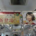 gooブログ  4月10日(月)のつぶやき:菅野美穂 ヘルシア緑茶 うまみ贅沢仕立て(電車中吊広告)