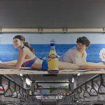 gooブログ 3月29日(水)のつぶやき:サロメデマート マリウス葉 オランジーナ(電車中吊広告)